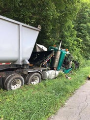 Two vehicles were involved in a crash on Route 9 near