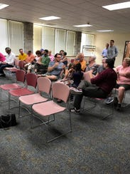 Residents gathered at the Wauwatosa Library during