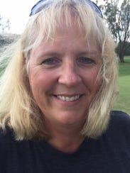 Elgin girls golf coach Lisa Hoffman