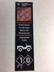 These decals will be placed on trails to identify each