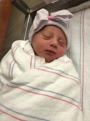 Baby Grace Cobb, the new daughter of Lisa and Brett