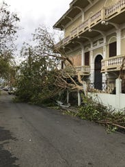 Damage is seen in San Juan, Puerto Rico following Hurricane