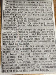 The newspaper clipping from Olivia Babcock's great-grandmother