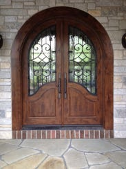 By opening the front of your home with a wider entry