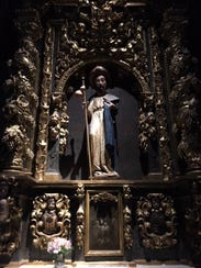 A statue of St. James, one of the twelve apostles of