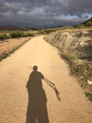David Larwa faces the long road ahead on the Camino