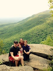 The Roger family enjoys hiking together in the Catskills.