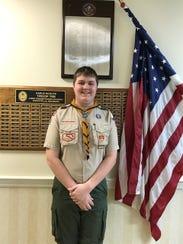 Owen D'Aprile earned his Eagle Feb. 19.