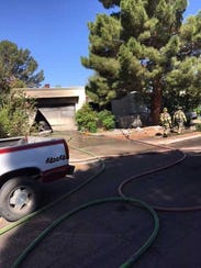 The Las Cruces Fire Department responded to a residential