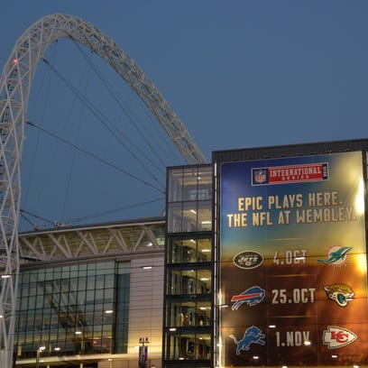 General view of Wembley Stadium in advance of the NFL