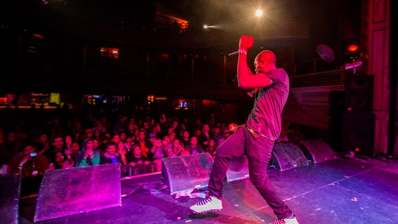 Chiddy Bang performs at Firefly's First Look at the Trocadero Theatre in Philadelphia on Sunday night.