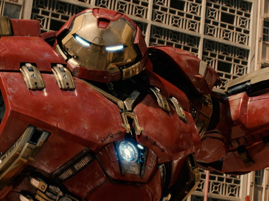 """Hulkbuster in a scene from the new film, """"Avengers:"""