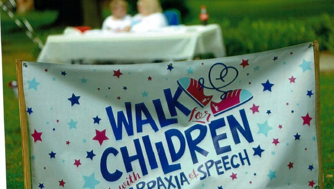 The Walk for Children with Apraxia of Speech is Sept. 16 at Phelps Grove Park.