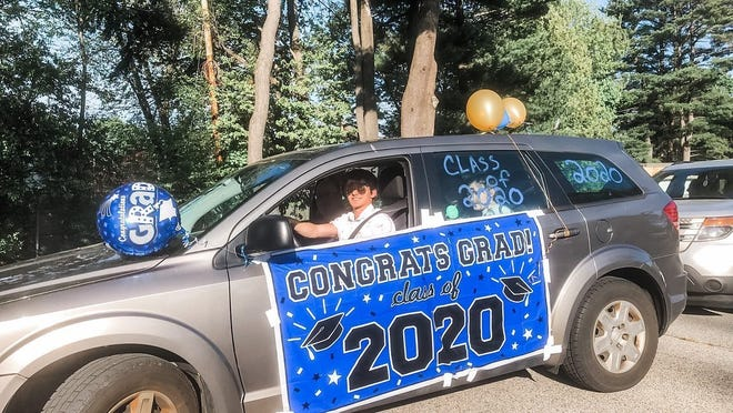 Archbishop Williams High School Class of 2020 participated in a drive through ceremony for graduation.