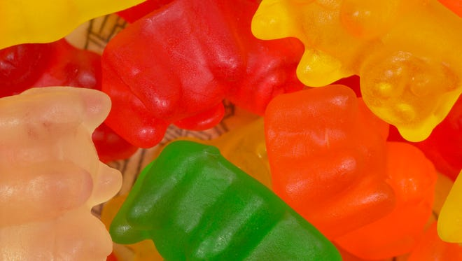 Chewy bear shaped candy