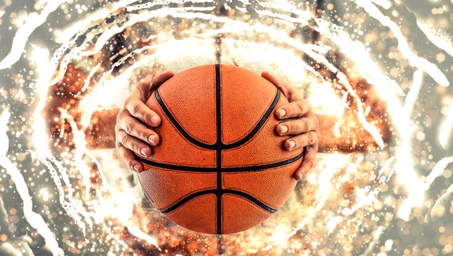 Basketball background. Illustration.