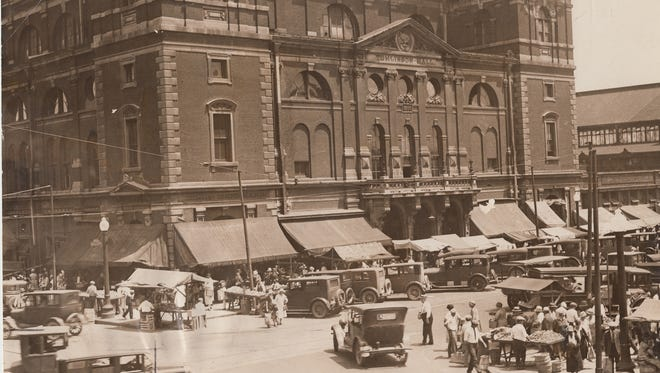 Tomlinson Hall and Farmers Market  July 7, 1927