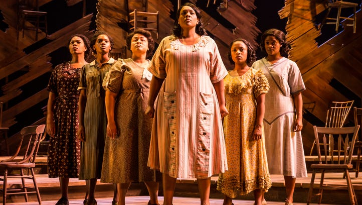 Carrie Compere and the North American touring cast