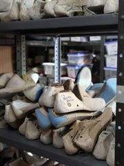 Wooden Shoe Molds Belonging To Performers At The Time
