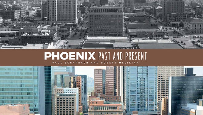 Downtown Phoenix on the front cover of Phoenix Past and Present.