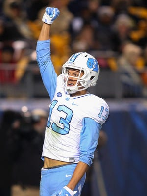North Carolina wide receiver Mack Hollins (13) had a key touchdown catch in the Tar Heels' win Thursday night.