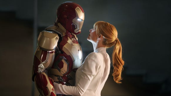 Tony (Robert Downey Jr.) and Pepper (Gwyneth Paltrow)