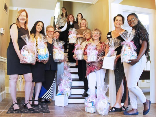 Magellan staff created baby baskets for Golisano Children's