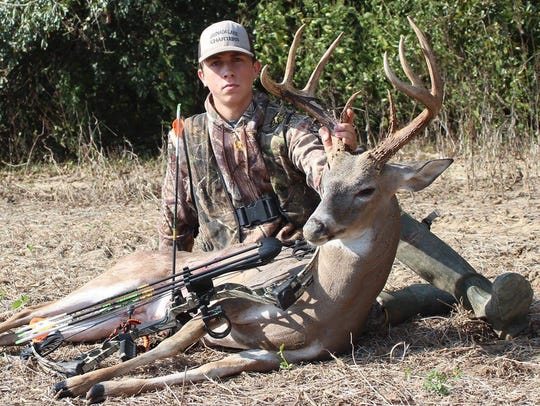 Bryant King of Bruce harvested this buck with an estimated
