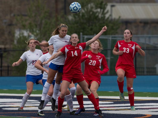 Wall Girls Soccer defeats Westwood Regional in onetime during the  NJSIAA Girls Group II State Soccer Championship final at Kean University on November 18, 2017.