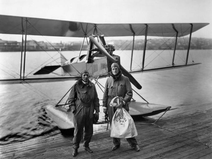 On March 3, 1919, William Boeing (right) and pilot