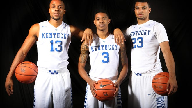 Kentucky's point guards (from left) Isaiah Briscoe, Tyler Ulis and Jamal Murray will try to coexist in games this season.