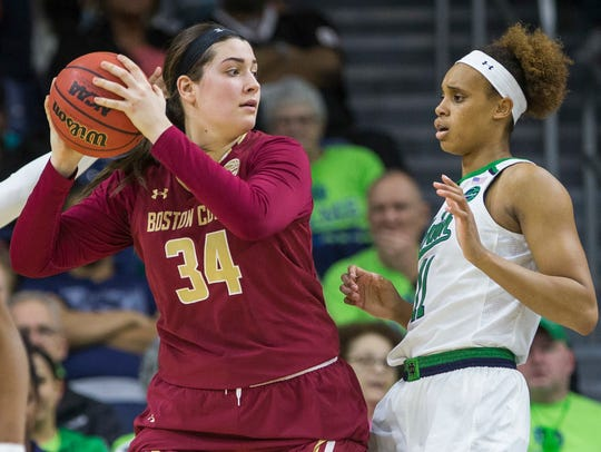 Mariella Fasoula (34), a former Boston College standout, will debut for Vanderbilt this season after sitting out 2017-18 to fulfill NCAA transfer rules.