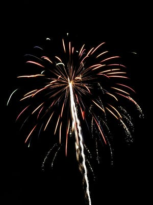 The Fourth of July fireworks in 2014 at the Fairfield County Fairgrounds.