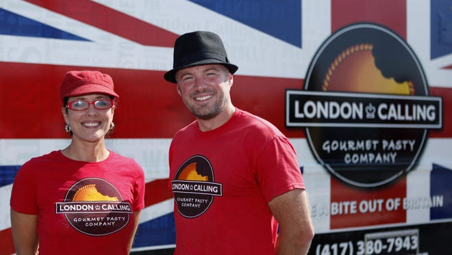 Carrie Mitchell and Neil Gomme own London Calling food truck.
