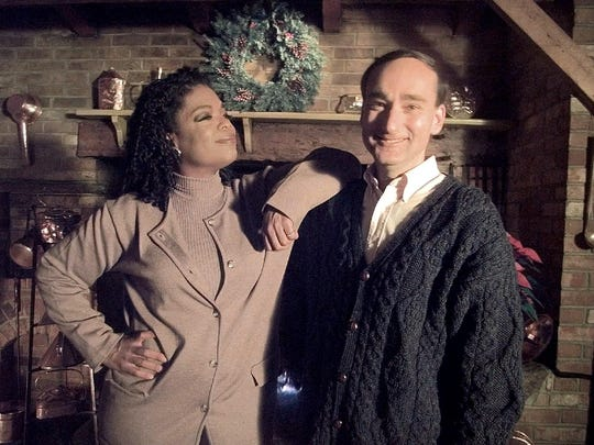 """Oprah Winfrey and Chris Bohjalian at the Inn at Saw Mill Farm in West Dover in 1998. His book """"Midwives"""" was a selection of Oprah's Book Club. She filmed a segment with the author in Vermont."""