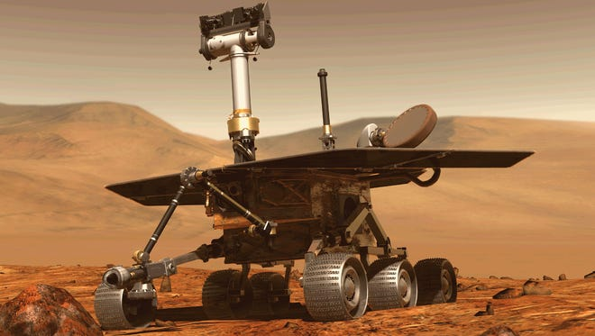 Opportunity's primary scientific goal is to search for and characterize as wide a range of rock and soil samples as possible to gather clues about past water activity on Mars.