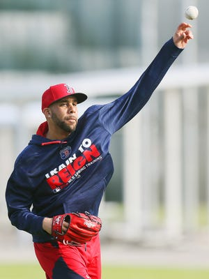 Boston Red Sox pitcher David Price works out Wednesday at JetBlue Park at Fenway South in Fort Myers.