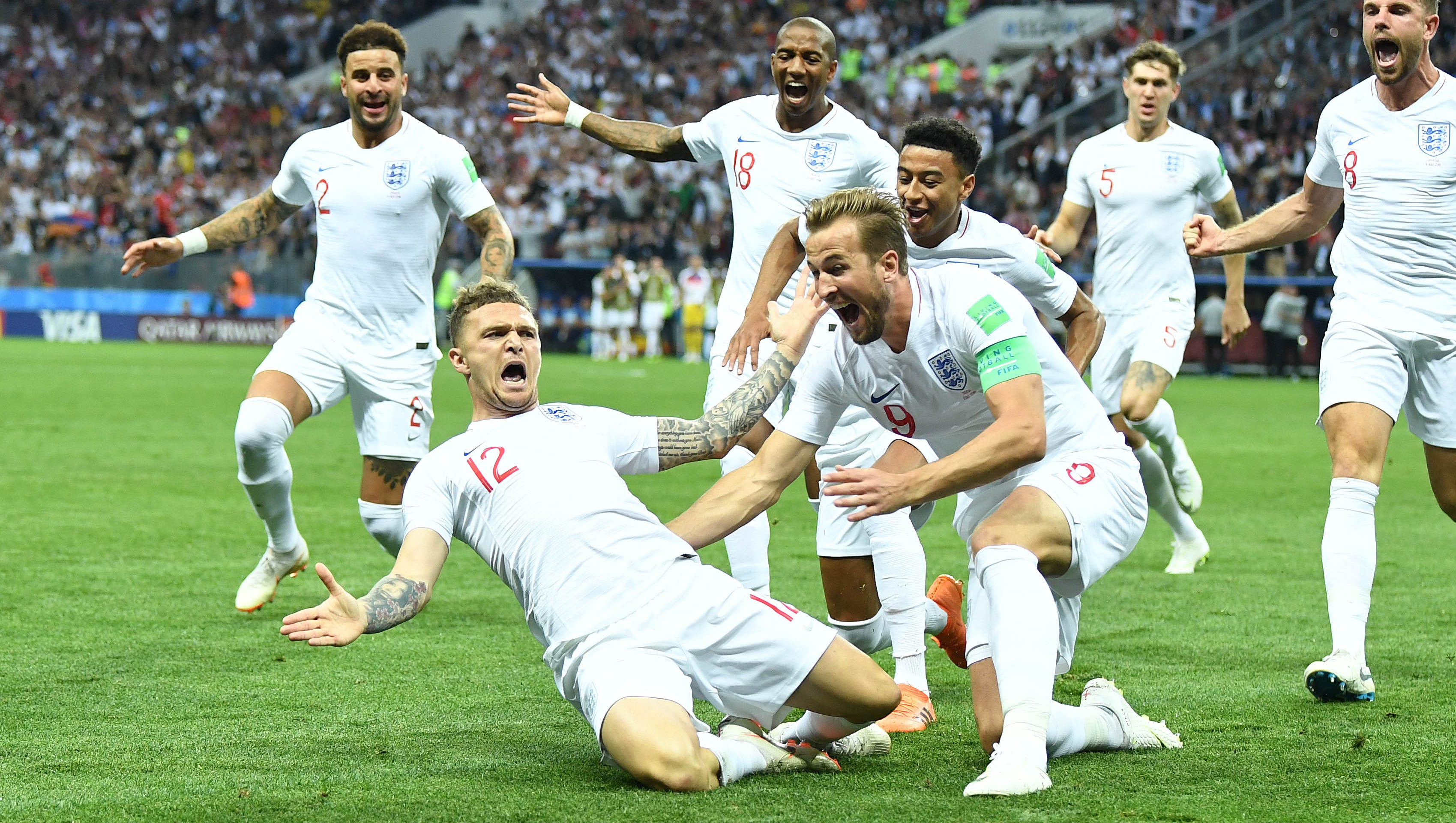 World Cup 2018 Kieran Trippier Free Kick Gives England Early Lead