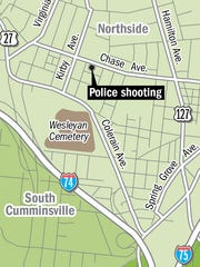 A map of where the shooting happened