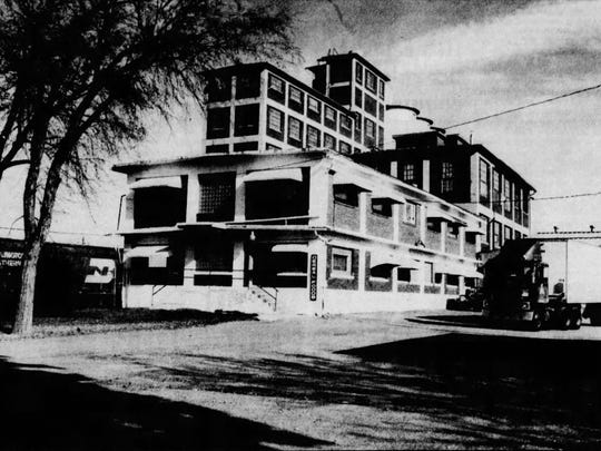 In this 1986 photo, the Montana Flour Mills building looks much the same as it did when it was built in 1916.