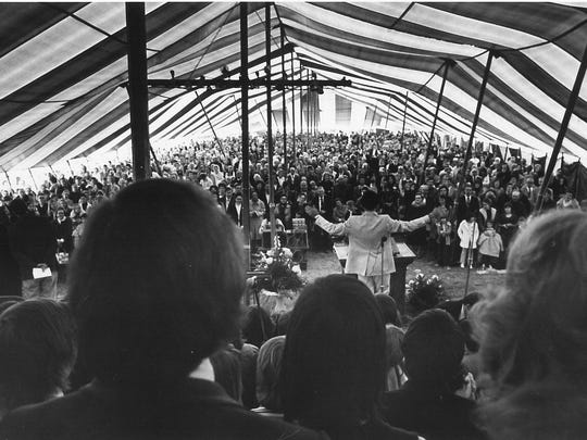 Music and preaching were held Nov.. 24, 1974, under