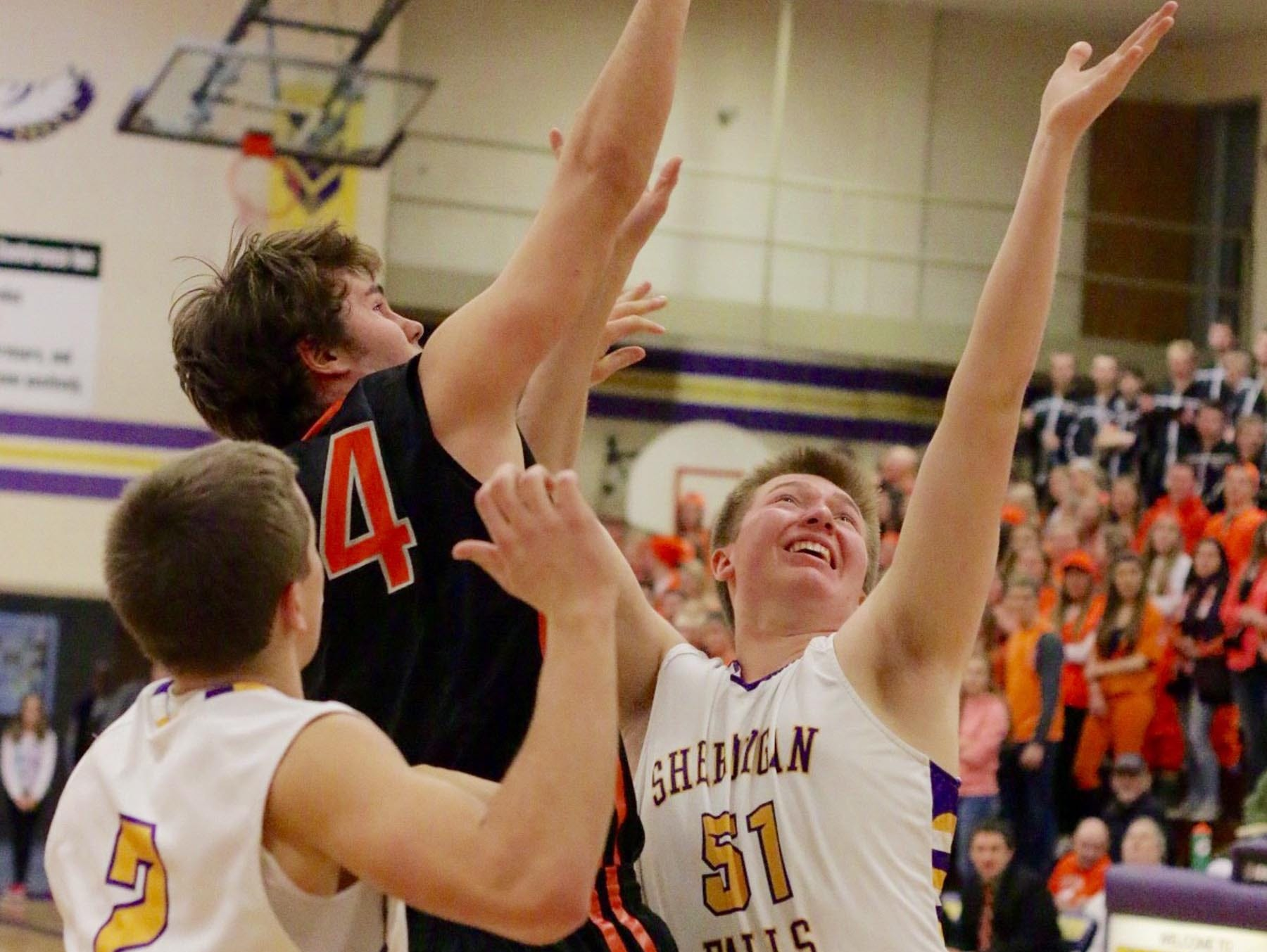 Center Alex Atonie (51) is one of a bevy of returning players on the Sheboygan Falls roster.