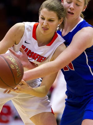 Marshfield senior Ema Fehrenbach capped her prep career by being named the Wisconsin Valley Conference girls basketball player of  the year this winter.