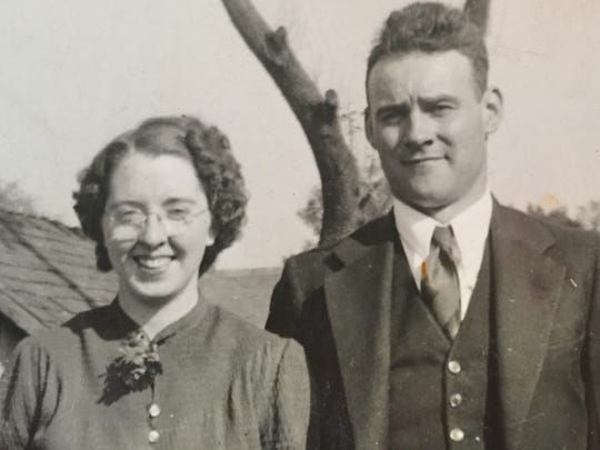 Frances Oldham and her husband, Marion. She will be