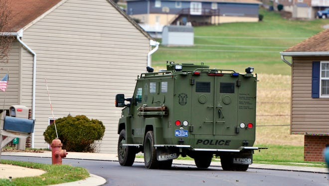 The York County Quick Response Team is on the scene of a police incident in Windsor Township Friday, Dec. 18, 2015. (John A. Pavoncello - The York Dispatch)