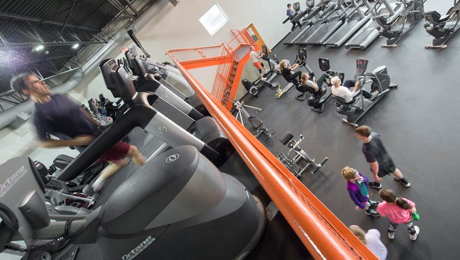 The new cardio fitness area at the York Jewish Community Center Sunday.