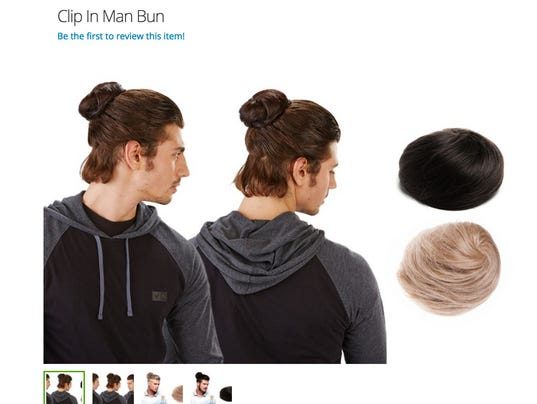 No Joke The Clip In Man Bun Exists