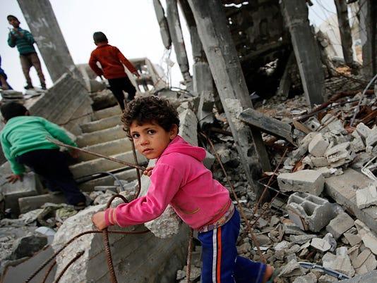 EPA MIDEAST ISRAEL PALESTINIANS CONFLICT WAR CONFLICTS (GENERAL) --- GA