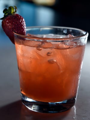 The strawberry and basil gimlet from UP.