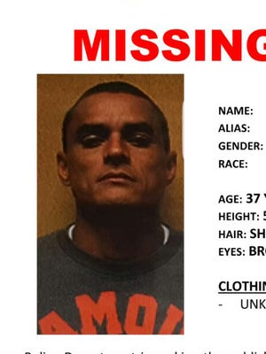 Police are looking for Danny Phillip Ngirarois, 37. The missing man is 5-foot-7-inches tall, weighs between 140 and 165 pounds and is either bald or has short, black hair. This poster was provided by the Guam Police Department.
